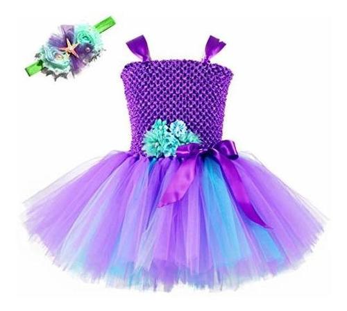Tutu Dreams - Vestido De Sirena Para Niñas De 1 A 12 Años Co
