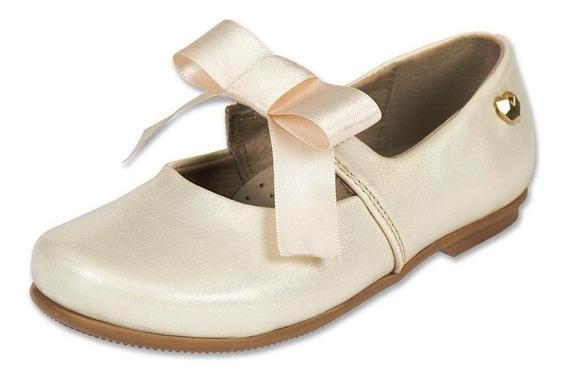 Calzado Bebe Niña Zapato Flat Tropicana Tipo Piel Beige Suav