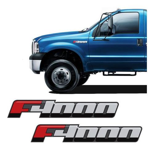 Imagem 1 de 5 de Emblema F-4000 2016/ Adesivo Lateral Resinado Ford - Par