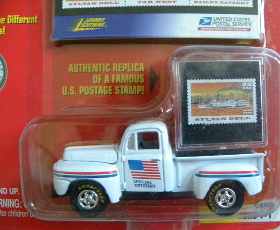1950 Ford F1 Pickup Postal Service Johnny Lightning Sa17