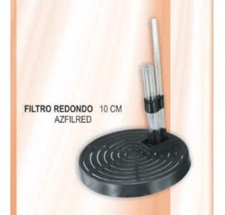 Filtro Redondo 10 Cm Acuario 1 Galon