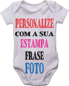Body Bebê Infantil Personalizado Com Nome Frase Estampa