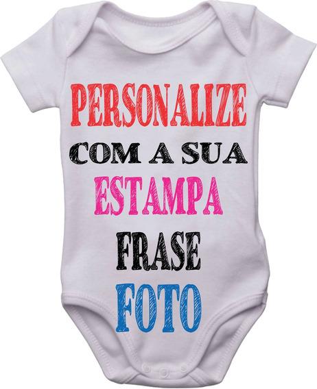 Kit 3 Body Bebê Infantil Personalizado Nome Frase Estampa