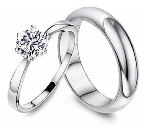 Aliança Anel Par Prata 925 Compromisso Namoro Casamento