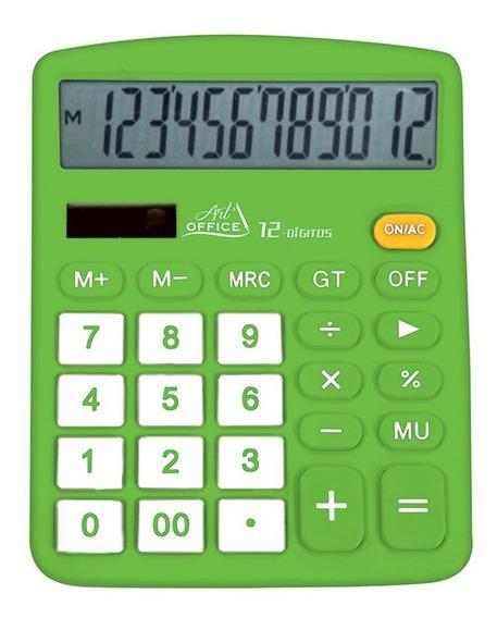 Calculadora Com 12 Dígitos Art Office - Pilha Grátis