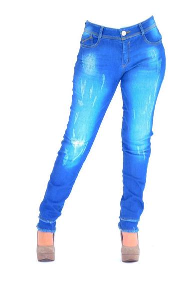 Jeans Studio F Stertch Push Up Deslavado Desgarres 6220