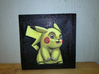 Pikachu Cuadro, Cojín Y Bota