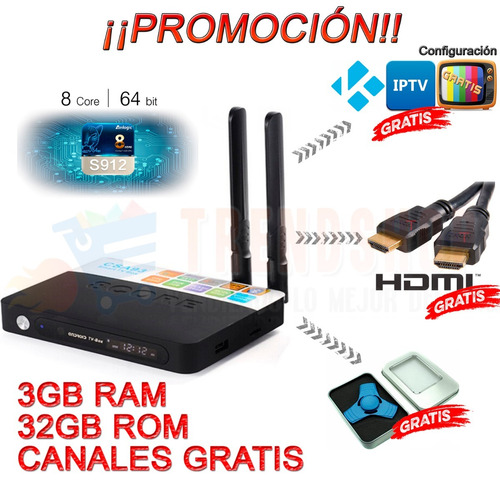 Android Tv Box 7.1 Csa93 4k 3gb 32gb Octacore Canales Regalo