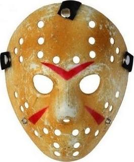 Máscara Jason Envelhecida Festa Fantasia Halloween Terror