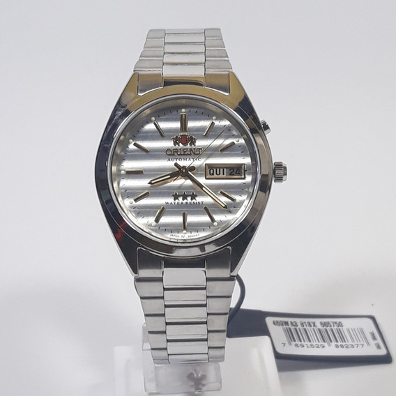 Relógio Automático Masculino Orient 469wa3 B1sx Fundo Prata