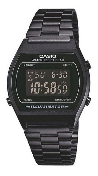 Relógio Casio Todo Preto B640 Masculino Feminino Digital Vintage Retro - Promoção Black Friday 50% Off