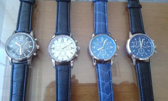 Kit Com 05 Relógios Masculino Homens Analógicos-original