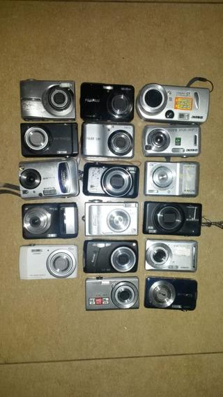 Lote 17 Cameras Digitais Diversas Com Defeito