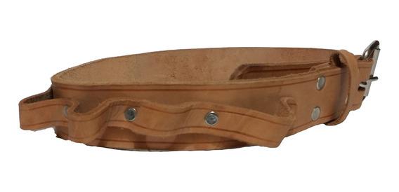 Cinturón De Piel Porta Herramientas Diversos Compartimentos