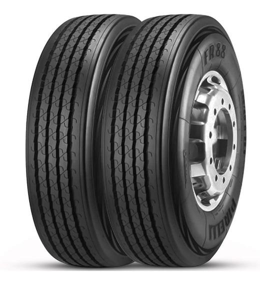 Kit 2 Pneu Pirelli Aro 22.5 275/80r22.5 149/146m Fr88 Liso