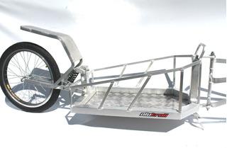 Trailer Aluminio Para Bicicleta Con Suspension Alutrail