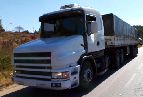 Imagem 1 de 15 de Caminhão Scania T124 6x2 Ano 2001 + Carreta Graneleiro 2009