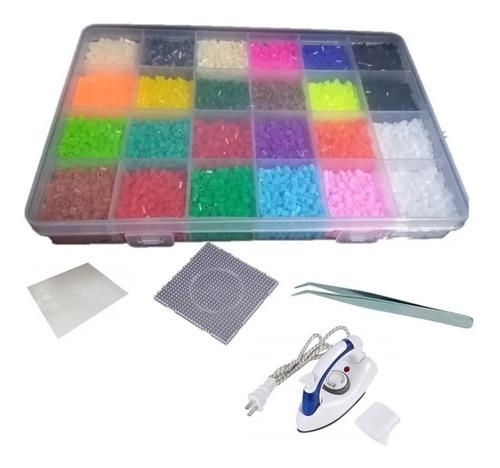Estuche Hama Beads 24 Colores +tabla Pinza Papel Perler Mini