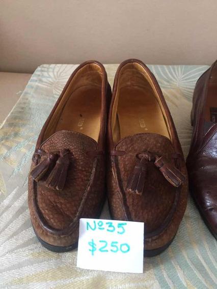 Zapatos N 35 De Gamuza Usados Excelente Estado