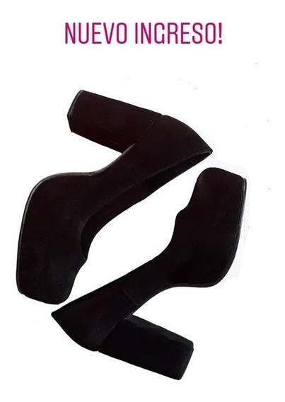 Huma10 Zapatos Stiletto Talles Grandes Gamuza Cerrado Palo