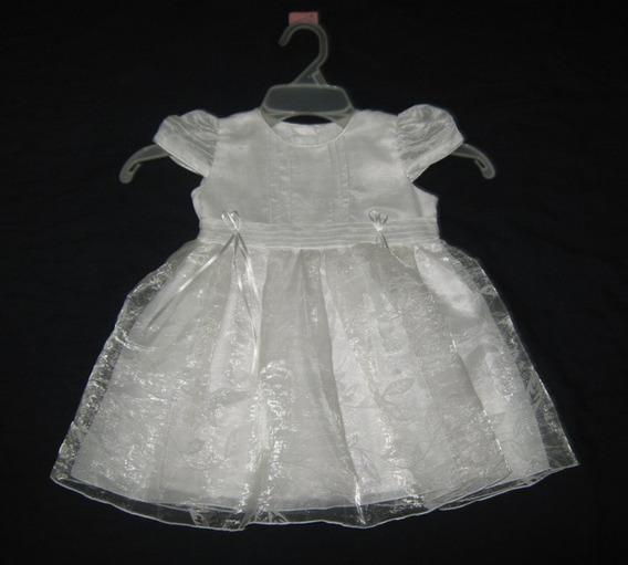Precioso Vestido Blanco Para Niña Talla 18m Bautizo, Boda