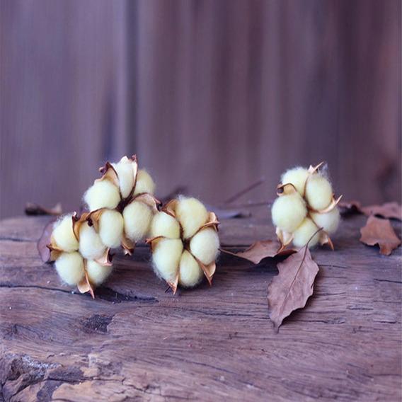 1 Ramo Elegante Colorido De Algodão Flor Flor Artificial In