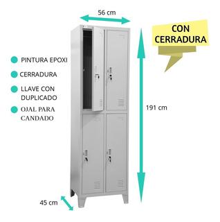Locker Metálico 4 Ptas Pintura Epoxi C/cerradura Guardarropa