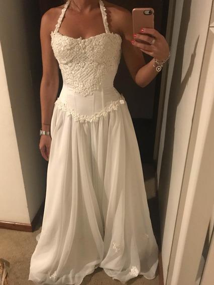 Vestido Blanco De 15 O Novia Talle S