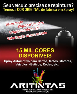Spray Automotivo Preto Honda Titan E Fan Acrílico 240ml