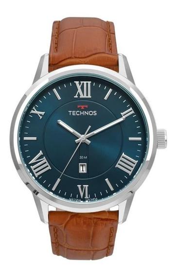 Relógio Technos Masculino Ref: 2115mtx/0a Classic Prateado