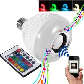 Bluetooth Musical Com Controle Rgb Lâmpada Led Caixa De Som