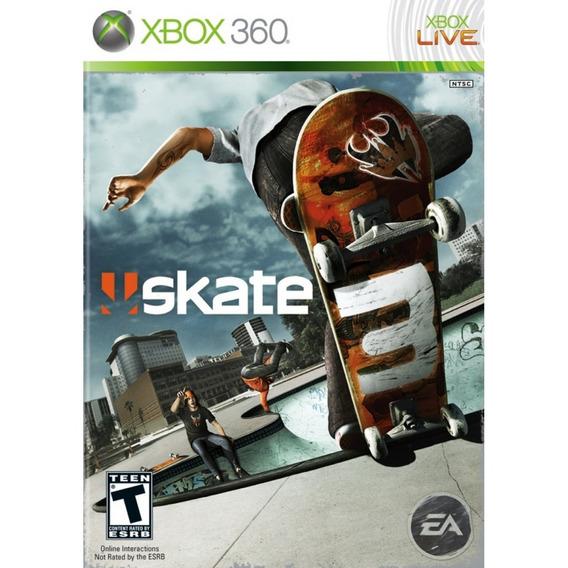 Skate 3 - Xbox 360 & Xbox One Mídia Física Lacrada Original