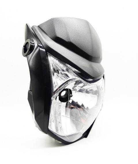 Kit Farol E Carenagem Honda Fan 160 / Start / Titan 14 Preta