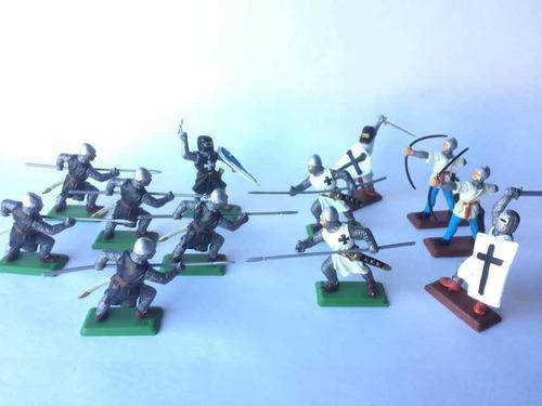 Soldados Medievales Lote X 12 Templarios- Cruzados