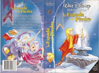 La Espada En La Piedra Vhs Walt Disney Los Clasicos