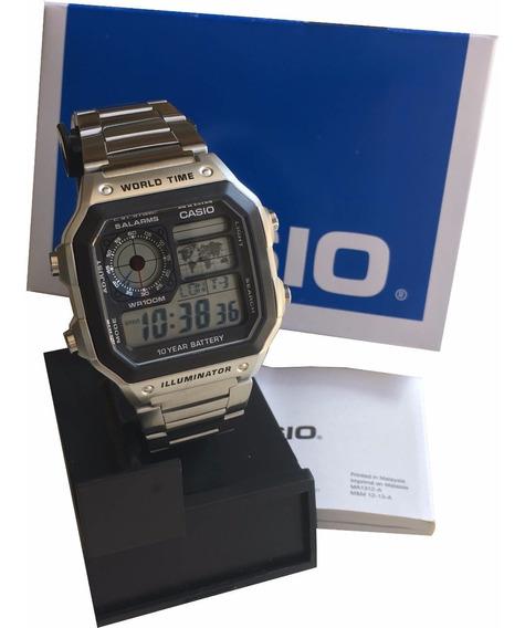 Relógio Casio Digital Ae1200w Masculino Original C/ Caixa Nf