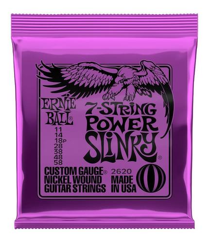 Imagem 1 de 4 de Encordoamento Ernie Ball 0.11 Power Slinky 7 Cordas 2620