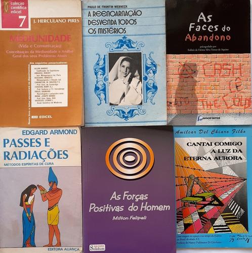 6 Livros Espiritas- Passes E Radiacoes+mediunidade+4 Obras