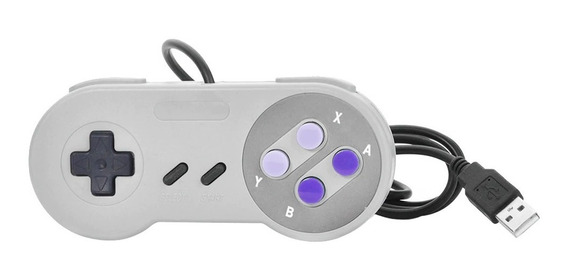 Controle Joystick Manete Usb Snes Super Nintendo Para Pc Mac
