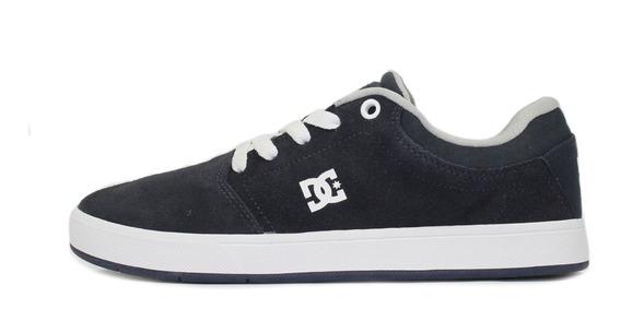 Tênis Skatista Dc Shoes Crisis La Azul Marinho/cinza/branco