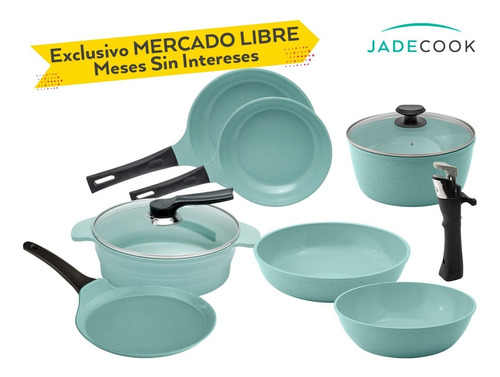 Jade Cook 4 Pzs + Jade Cook Smart 5 Pzs + Comal - Cv Directo