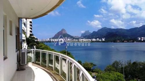 Apartamento À Venda, 3 Quartos, 3 Suítes, 2 Vagas, Lagoa - Rio De Janeiro/rj - 6504
