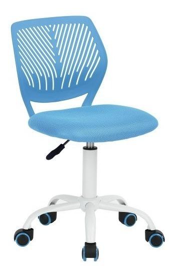 Silla De Oficina Altura Ajustable Carnation Azul Moderna