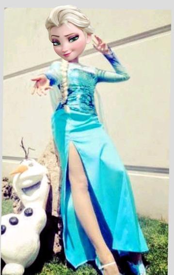 Vestido Elsa Frozen Adulto.