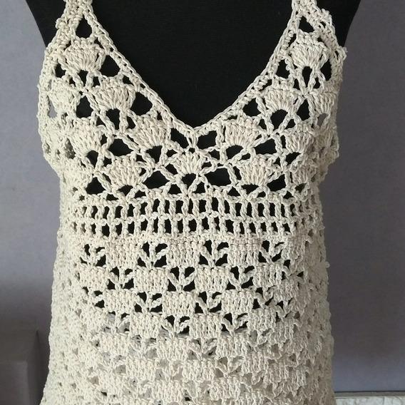 Remera Musculosa Tejida Al Crochet Verano