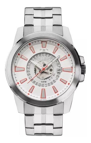 Relógio Technos Masculino Prateado 2117lah/1b Original (garantia 1 Ano)