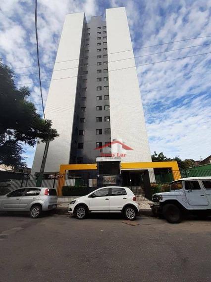 Apartamento Com 3 Dormitórios Para Alugar, 65 M² Por R$ 1.100/mês - Fátima - Fortaleza/ce - Ap0620