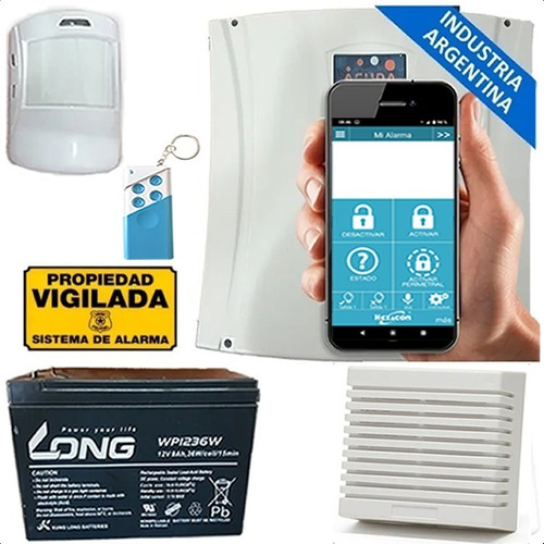 Kit Alarma Casa Gsm Inalambrica H410 +sirena + Sensor + Chip