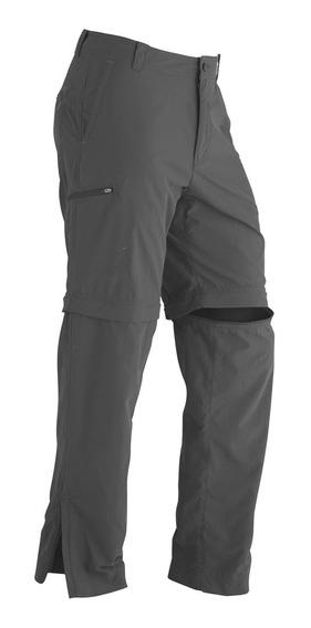 Pantalón Marmot Cruz Convertible Talla 38 Color Gris