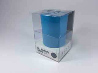 Mini Parlante Bluetooth Con Bateria Recargable Celeste